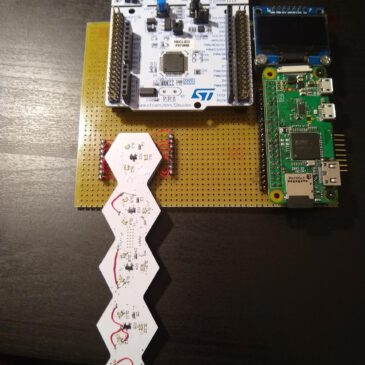 First prototype of the electronic board game Helvetios